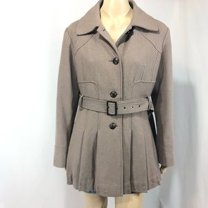 Guess Wool-blend Pea Coat with flare skirt